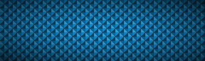 Blue abstract textured triangular header. Modern polygonal geometric texture banner. Vector pattern