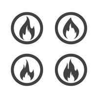 Fire logo images set vector
