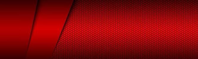 Cabecera de material moderno rojo con cuadrícula poligonal. banner corporativo para su negocio. vector de fondo de pantalla panorámica abstracta