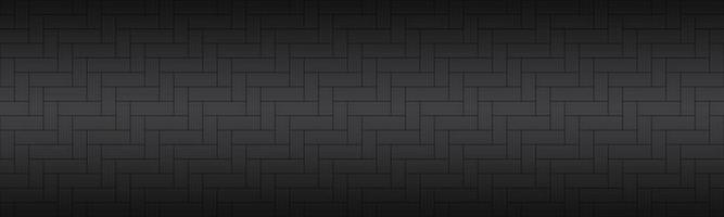 Modern black brick pattern. Seamless tile header. Simple vector illustration