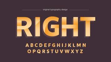 tipografía en mayúsculas de deportes modernos dorados vector