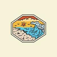 Illustration beach badge and emblem design vector