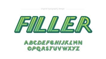 Italic Sports Futuristic Typography for Logos and Headlines vector