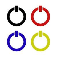 Power Button Set On White Background vector
