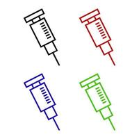 Syringe Set On White Background vector