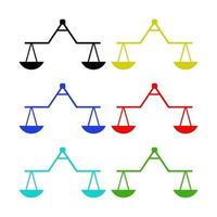 Set Of Scales On White Background vector