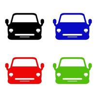 Set Of Car On White Background vector