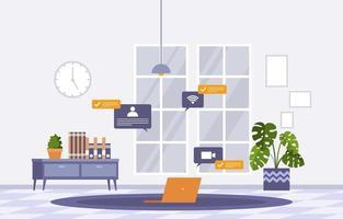 trabajar desde casa computadora internet negocios en línea freelancer ilustración