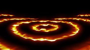 abstrakte Lava-Fusionskreise bilden nahtlose Schleifen video