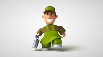 jardinero de dibujos animados divertido video