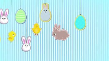 Easter Decorations Background video
