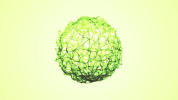 abstrato 3d fractal verde fio esfera fundo sem costura looping