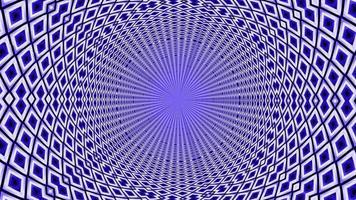 Patrones geométricos pequeños azules abstractos en un bucle sin interrupción