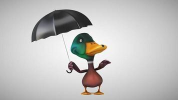 canard de dessin animé amusant