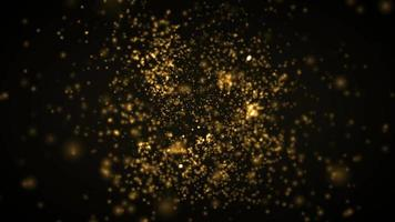 Abstract Gold Light Sparkling Particles Background Loop