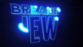 notícias de última hora, introdução, transmissão de tv fundo 3d