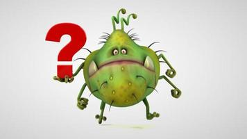 monstruo de dibujos animados gratis video