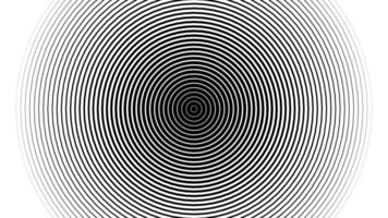 boucle de fond de cercles d'ondes radio abstraites