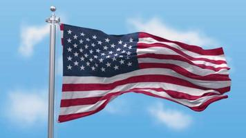 ondeando la bandera de los estados unidos de américa