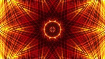 symmetrisches hypnotisches geometrisches gelb-orange Kaleidoskop