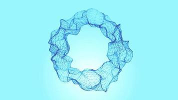 abstrato 3d fractal fio círculo fundo sem costura looping