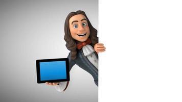 homem barroco de desenho animado 3d divertido