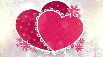 Romantic Hearts Template