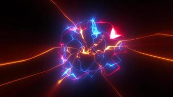 loop de fundo de energia de campo de força elétrico fx ação dinâmica