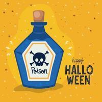 Halloween poison bottle vector design