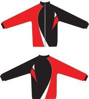 maquetas de chaquetas con cremallera vector