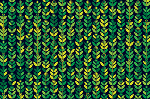 Green Color Leaves Pattern vector