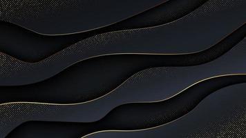 Fondo abstracto de lujo en estilo de onda. vector