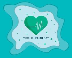 World Health Day Papercut Vector