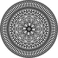 Mandala With Ornaments. Mandala for Coloring book page. vector