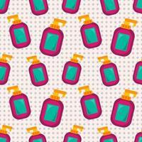 Ilustración de patrones sin fisuras de botella de desinfectante de manos