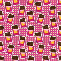 barra de chocolate, seamless, patrón, ilustración vector