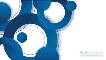 Ilustración de vector de fondo de círculo azul abstracto