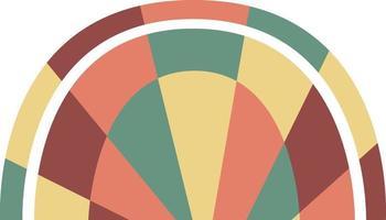 Abstract geometric rainbow vector