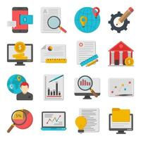 Pack of Infographic Flat Icons vector