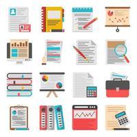paquete de iconos planos de negocios vector