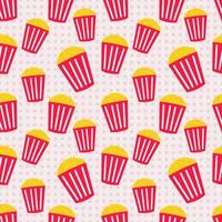popcorn seamless pattern illustration vector