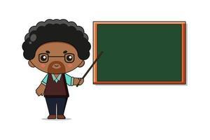 Cute Teacher Mascot Character Illustration vector