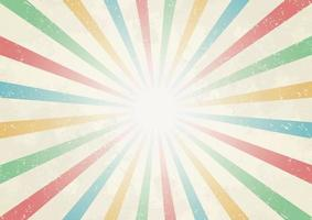 Sun Ray From Centre Vintage Color Background vector