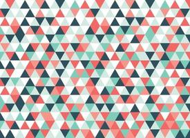 Colorful Triangles Mosaic Pattern vector