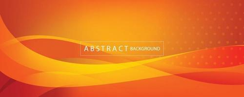 orange and yellow banner abstract background vector