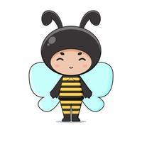 Cute Animal Bee Mascot Character Illustration vector