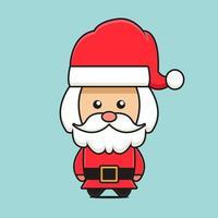 cute santa mascot character christmas theme vector