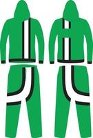 diseño de sudadera con capucha de manga larga vector