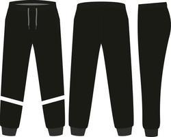 diseño de maquetas de pantalones de chándal vector