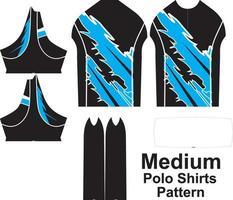 diseño de camisas de polo de tamaño mediano vector